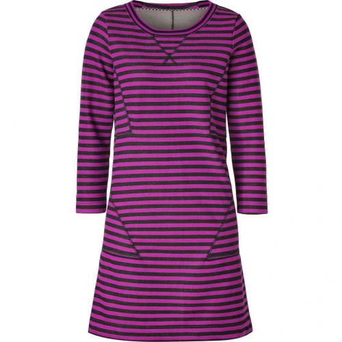 Marc by Marc Jacobs Black/Violet Striped Terry Ben Dress