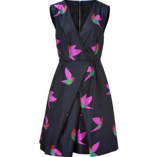 Marc by Marc Jacobs Blue Night Bird Taffeta Dress