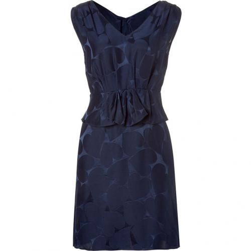 Marc by Marc Jacobs Ink Blue Big Hearted Jacquard Dress