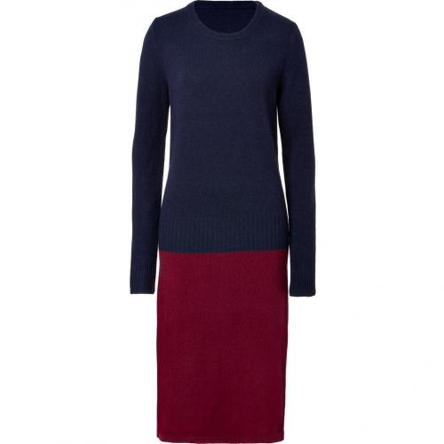 Marc by Marc Jacobs New Prussian Blue/Wine Merino-Cashmere Ariana Sweater Dress