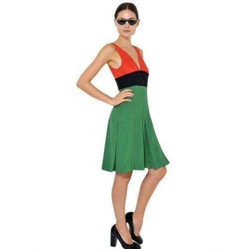 Marni Block Farbiges Krepp Kleid Aus Seide