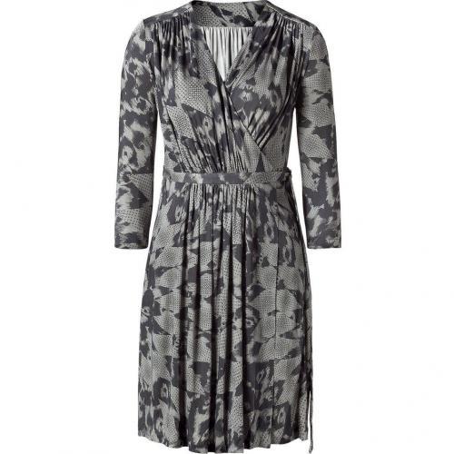 Matthew Williamson Silver Grey Printed Jersey Dress