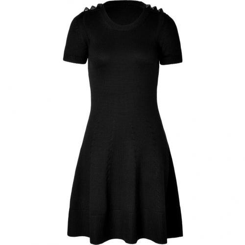 McQ Alexander McQueen Black Virgin Wool Knit Dress