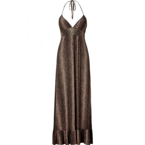 Melissa Odabash Black Leo Print Maxi Dress Barrie