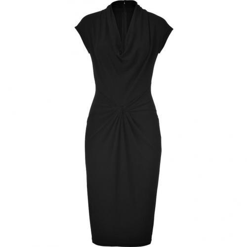 Michael Kors Black Draped Cowl Neck Dress