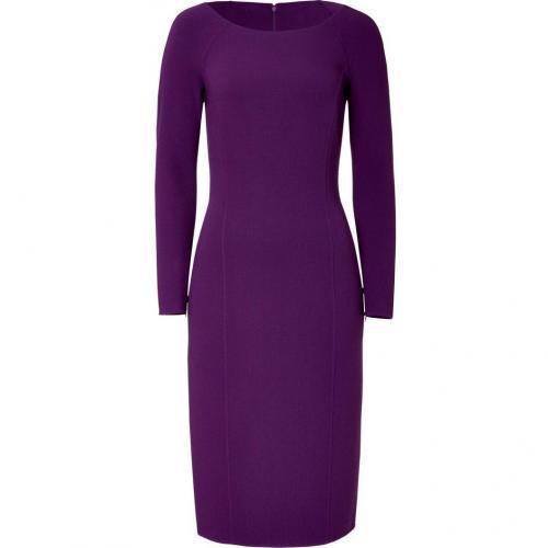 Michael Kors Blackberry Wool Blend Dress