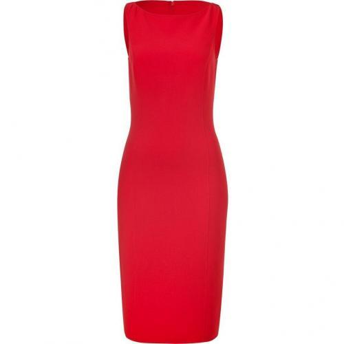 Michael Kors Crimson Red Wool Sheath Dress