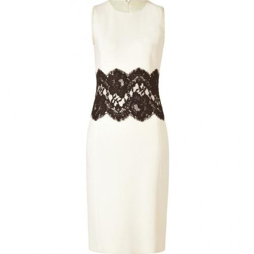 Michael Kors Ivory Dress with Black Lace Waist
