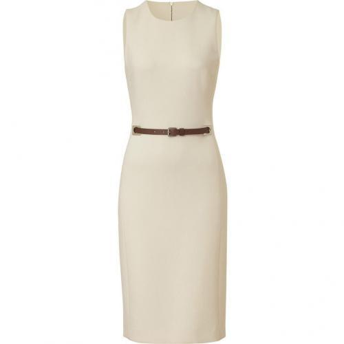 Michael Kors Ivory Virgin Wool Belted Dress