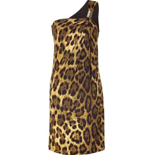 Michael Kors Leopard One Shoulder Dress