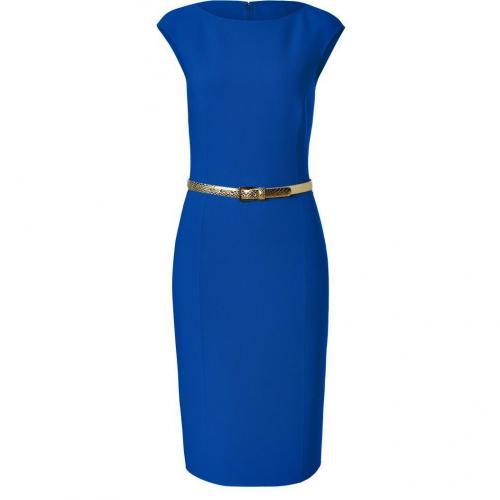 Michael Kors Sapphire Belted Wool-Blend Sheath Dress