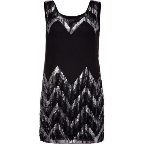 Milly Black Beaded Silk Dress