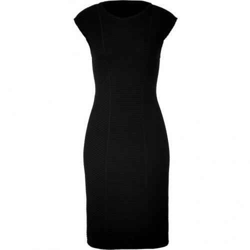 Missoni Black Textured Cap Sleeve Dress