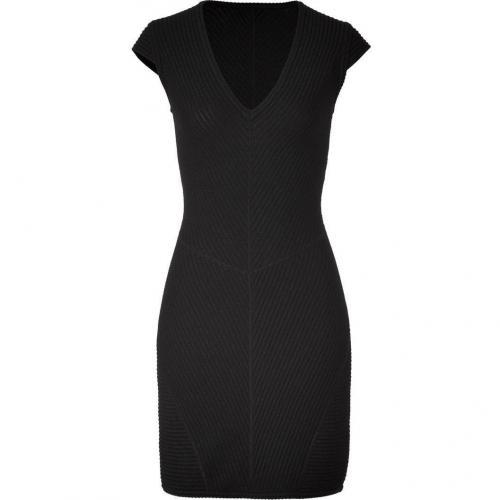 Missoni Black Textured V-Neck Dress