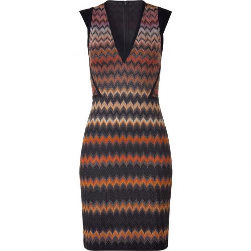 Missoni Carneol/Obsidian Patterned Knit-Dress