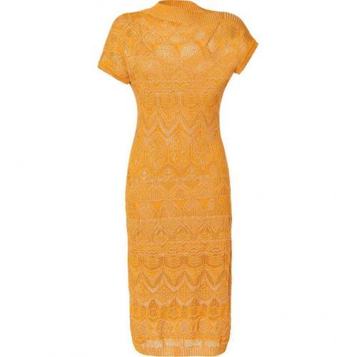Missoni Curry Metallic Textural Knit Dress