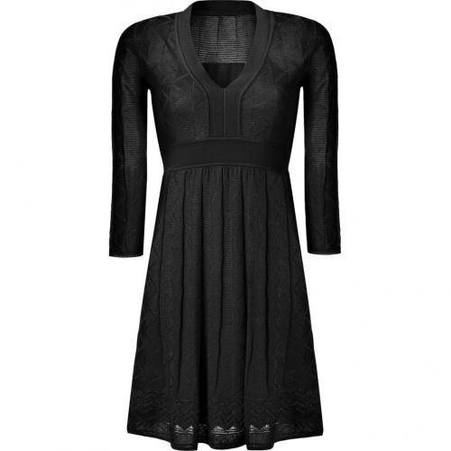 Missoni M Black Wool-Blend Knit Dress