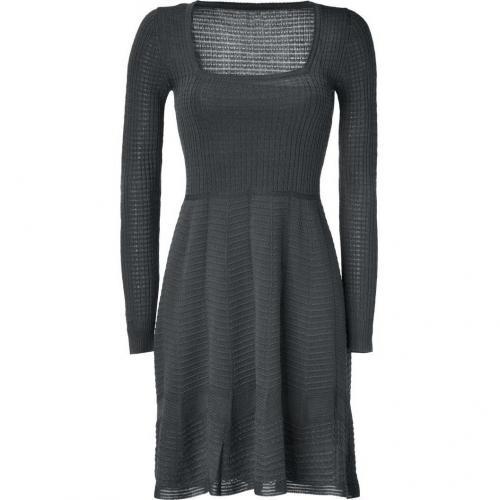 Missoni M Charcoal Square Neck Knit-Dress