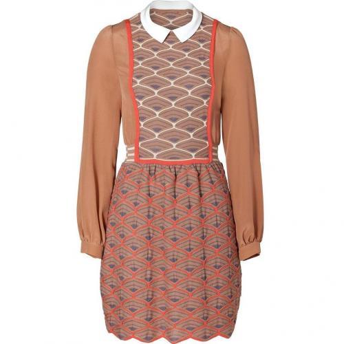 Missoni M Cinnamon/Mandarin Knit Dress