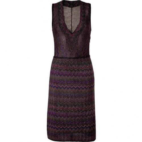 Missoni Rainbow Lurex V-Neck Dress