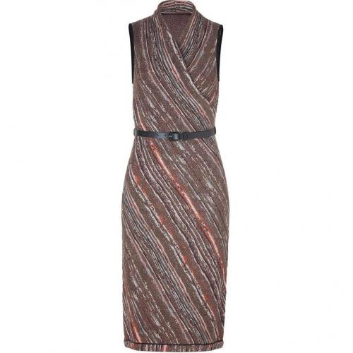 Missoni Truffle/Saffron Metallic Belted Knit Dress