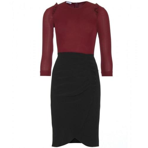 Miu Miu Gerüschtes Two-Tone-Kleid