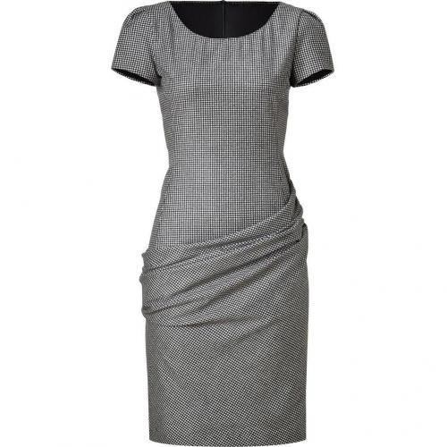 Moschino C&C Black/White Mini Checked Wool Dress