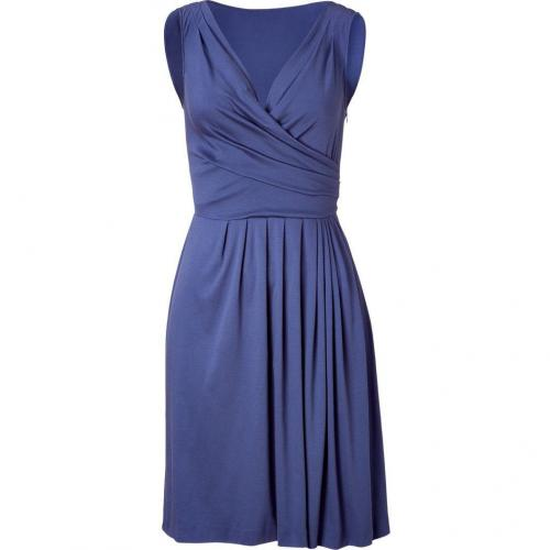 Moschino C&C Blue Drape Front Dress