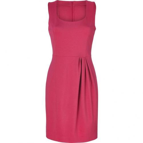 Moschino C&C Fuchsia Jersey Dress with Pleating