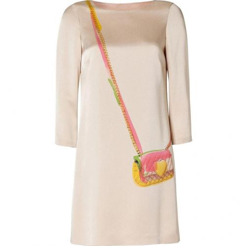 Moschino C&C Nude Printed Dress