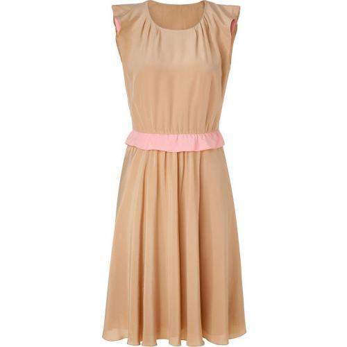Moschino C&C Tan Silk Dress