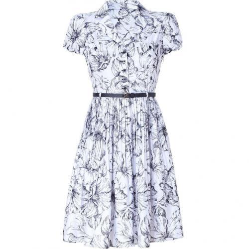 Moschino C&C White and Black Pleated Swing Dress