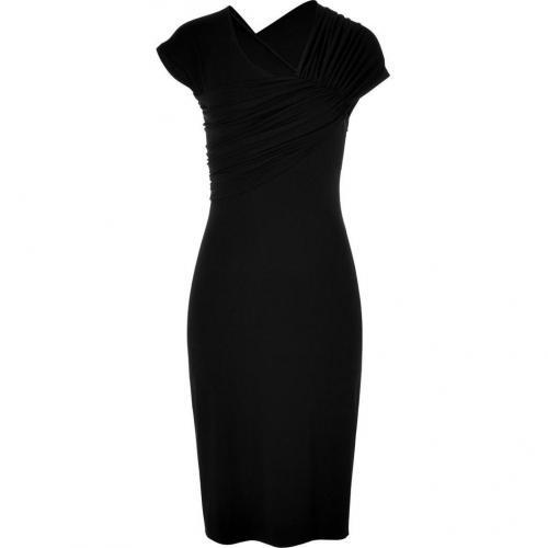 Narciso Rodriguez Black Draped Dress
