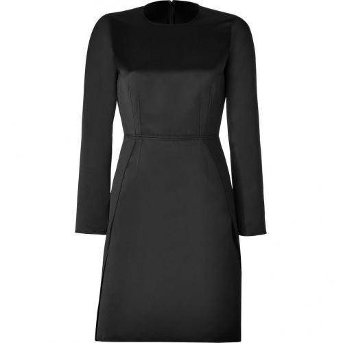 No.21 Black Satin Long Sleeve Dress