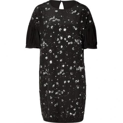 No.21 Black Sequin Silk Dress
