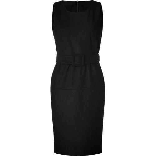 Paule Ka Black Belted Wool Dress