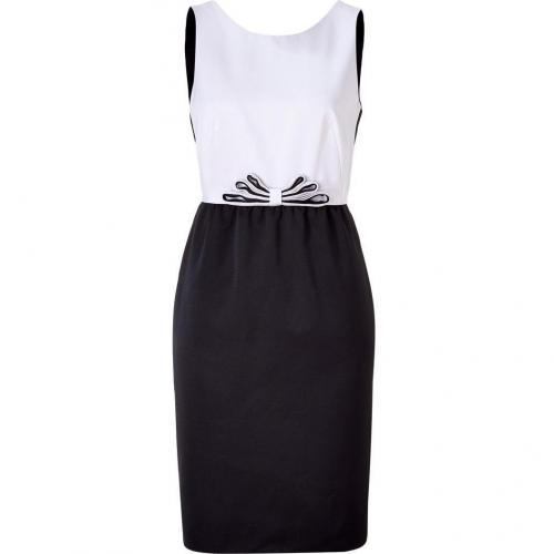 Paule Ka Black/Nude Combo Dress