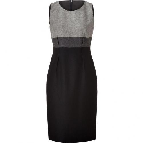 Paule Ka Grey/Charcoal/Black Wool Dress