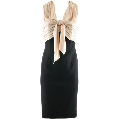 Paule Ka Powder Black Dress Bow