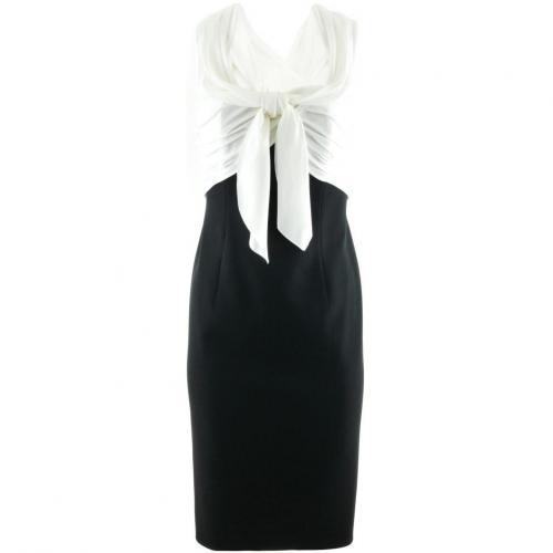Paule Ka White Black Dress Bow