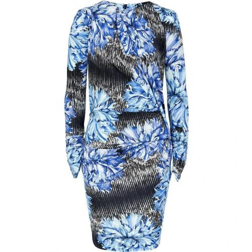 Peter Pilotto Blue Carnation Draped Dress