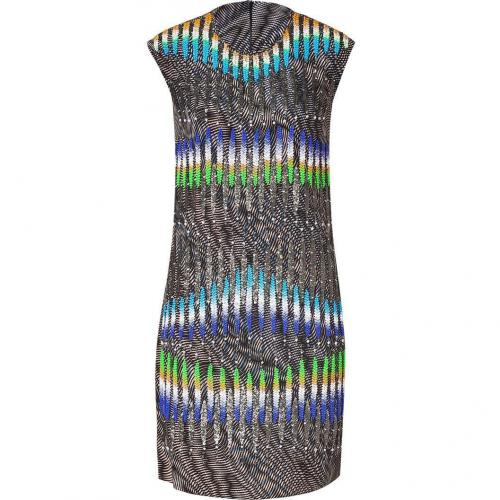 Peter Pilotto Ochre-Multi Sequin Graphic Print Dress
