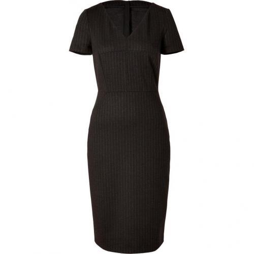 Piazza Sempione Charcoal Pinstripe Sheath Dress