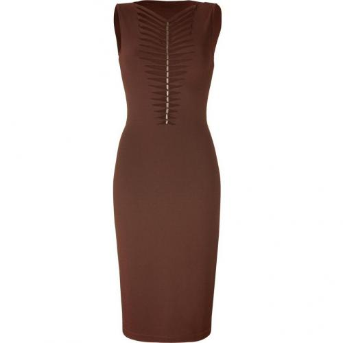 Plein Sud Chocolate Intercut Breast Dress