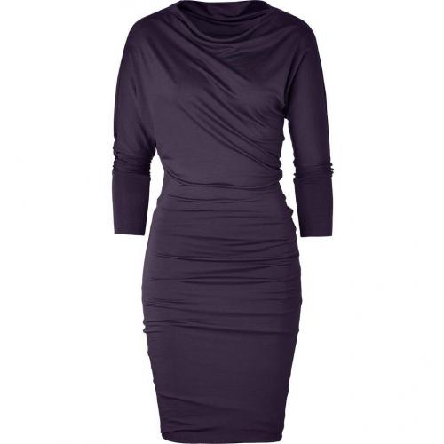 Plein Sud Mystic Violet Asymmetrical Draped Dress