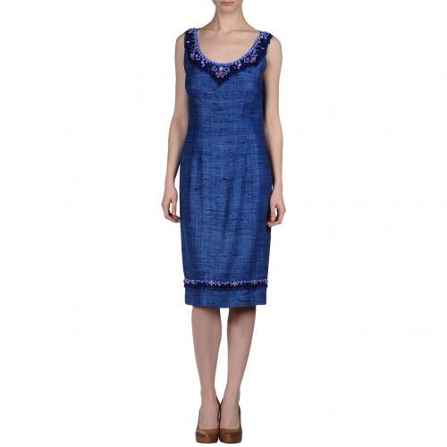 Prada Knielanges Kleid Blau