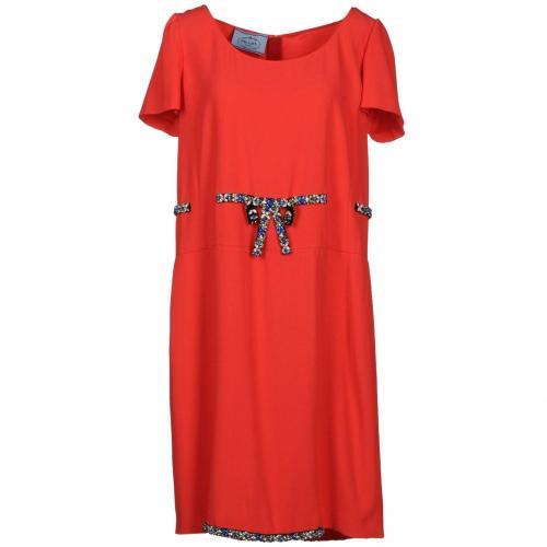 Prada Knielanges Kleid Koralle