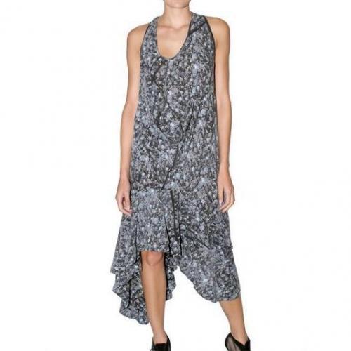 Preen Langes Kleid Jersey Im Blumen Print