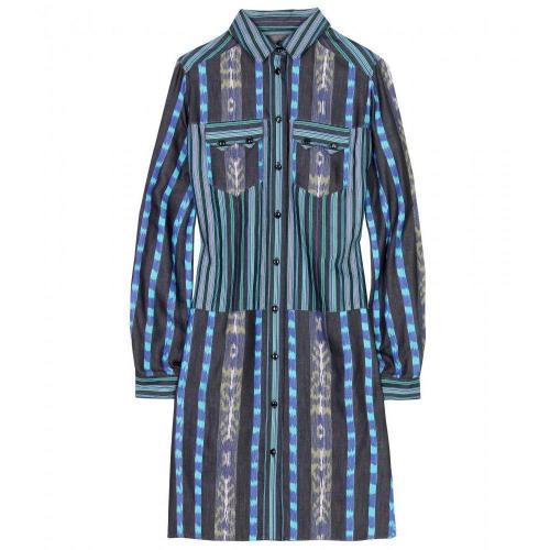 Proenza Schouler Hemdblusenkleid Mit Ikat-Muster