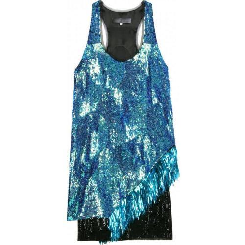 Proenza Schouler Sequin On Chiffon Dress